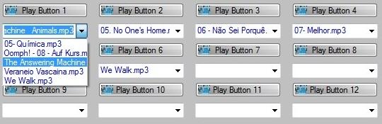 Insira vários arquivos em um único botão.