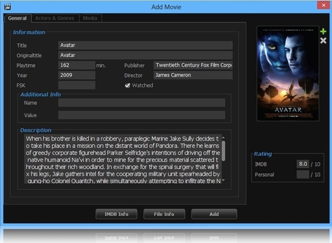 jMovieManager - Imagem 2 do software