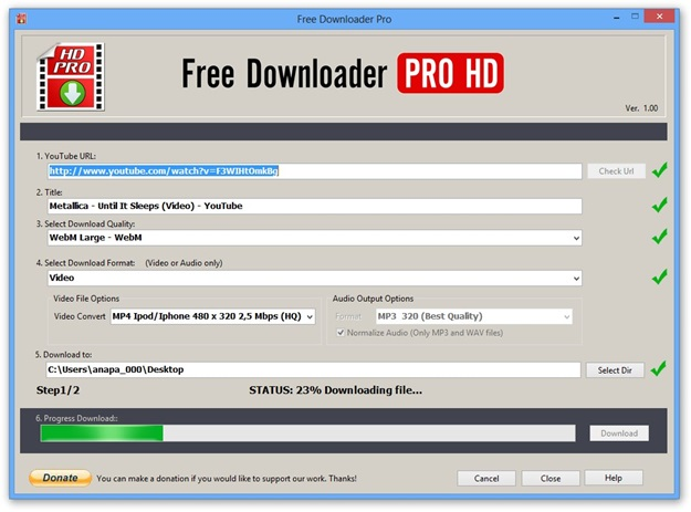 Free Downloader Pro HD.