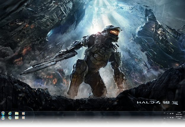 Halo 4 Windows Theme.