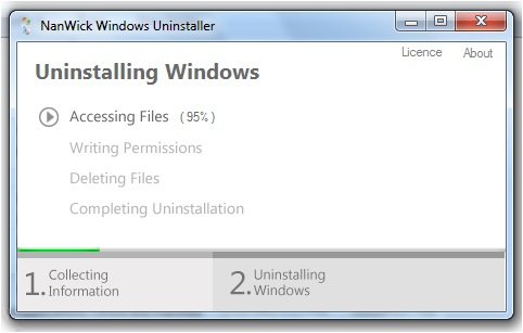 NanWick Windows Uninstaller - Imagem 1 do software