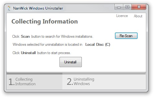 NanWick Windows Uninstaller - Imagem 2 do software