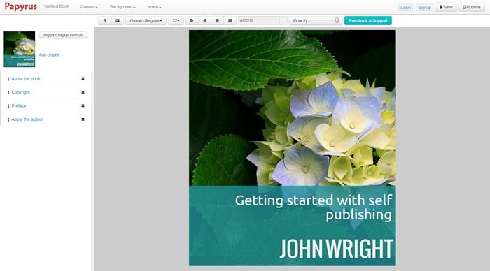 Criando um livro digital...