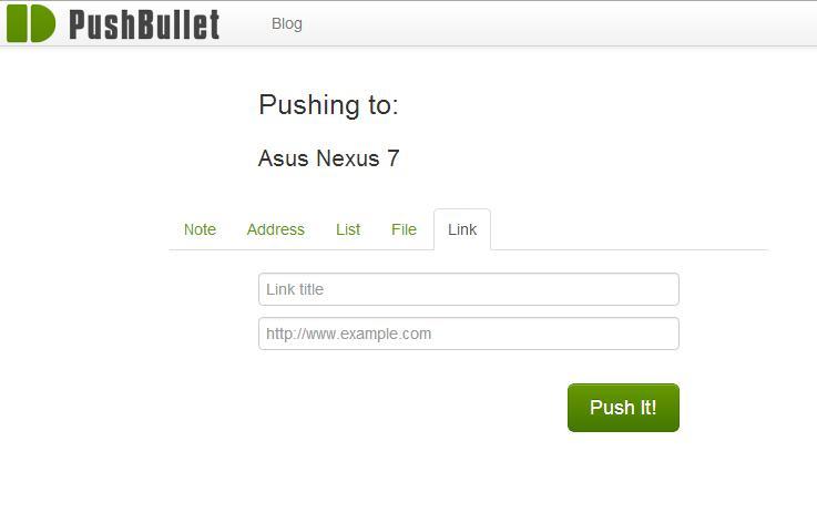 PushBullet - Imagem 1 do software