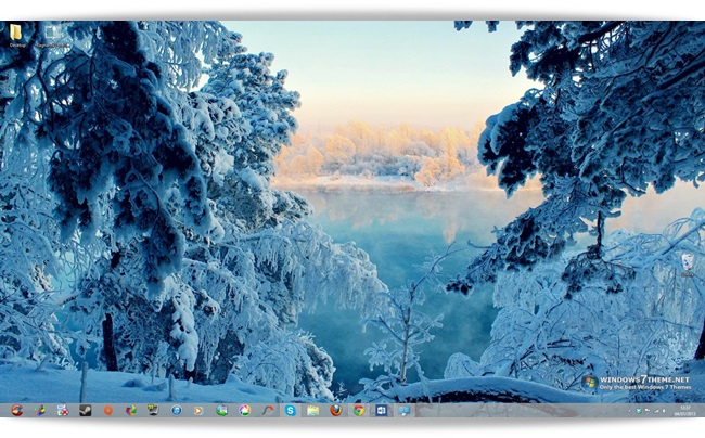 Winter Trees Windows 7 Theme - Imagem 1 do software
