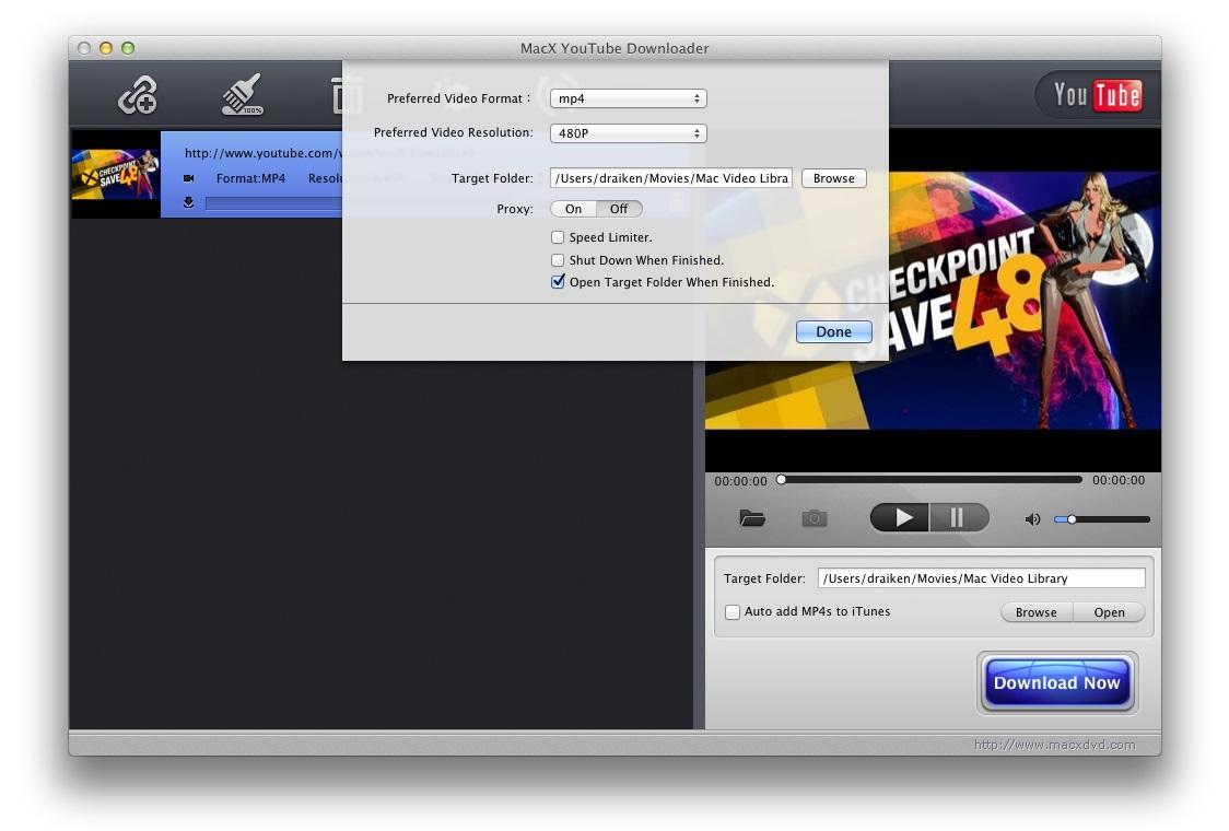 MacX YouTube Downloader Download to Mac Grátis