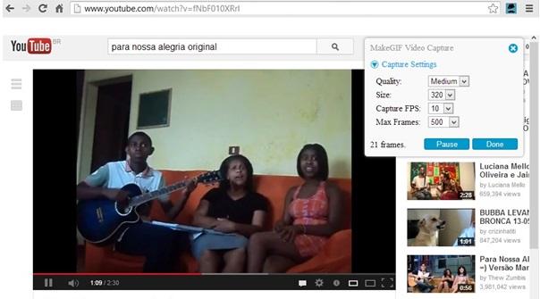 MakeGIF Video Capture para Google Chrome - Imagem 1 do software