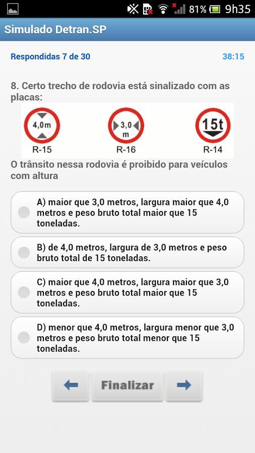 simulado do detran gratis 2013