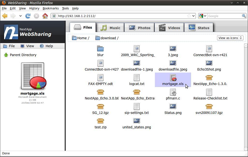 WebSharingLite File/Media Sync - Imagem 1 do software