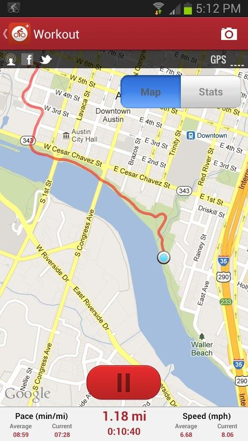 MapMyRide GPS Cycling Riding - Imagem 2 do software