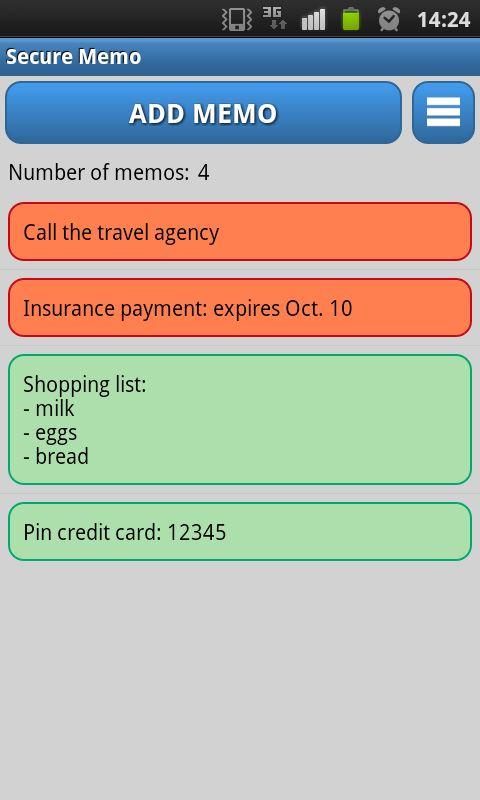 Secure Memo – Encrypted Notes - Imagem 2 do software