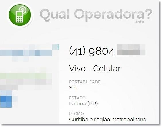 Qual Operadora? - Imagem 1 do software