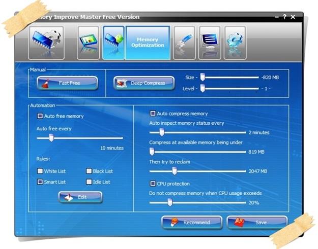 Memory Improve Master - Imagem 3 do software