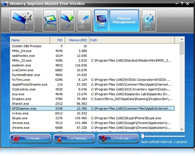 Memory Improve Master - Imagem 4 do software