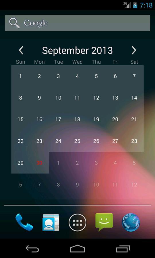 Free Calendar Widget - Imagem 1 do software