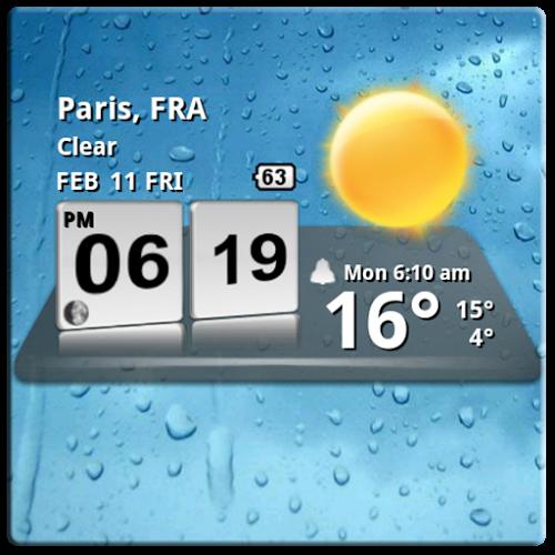 Logo 3D Digital Weather Clock ícone