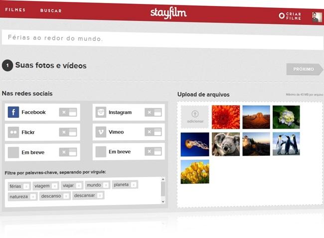 Stayfilm - Imagem 1 do software