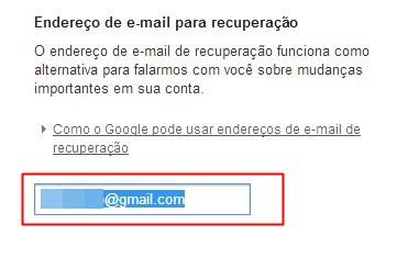 Inserindo o novo email