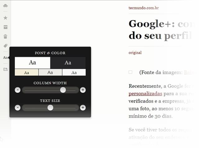 Readability para Google Chrome - Imagem 3 do software