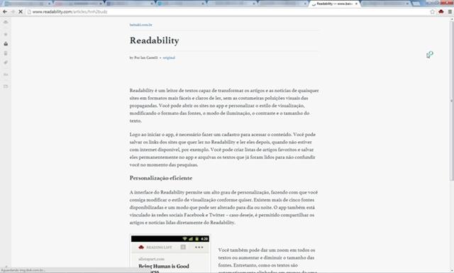 Readability para Google Chrome - Imagem 1 do software
