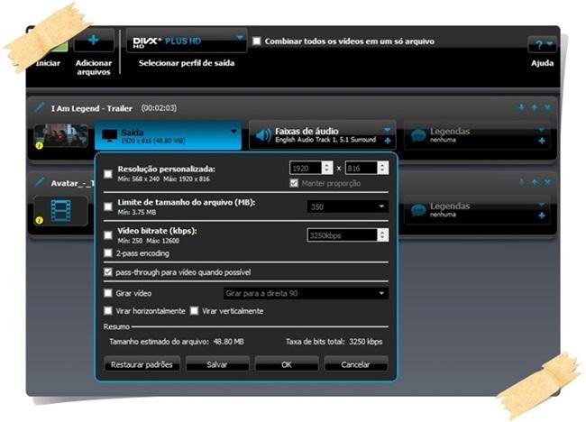 DivX - Imagem 5 do software