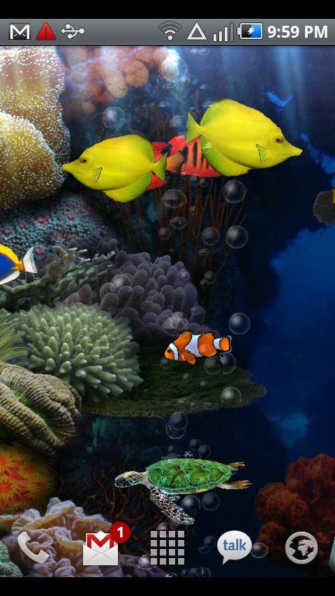 Aquarium Live Wallpaper - Imagem 1 do software