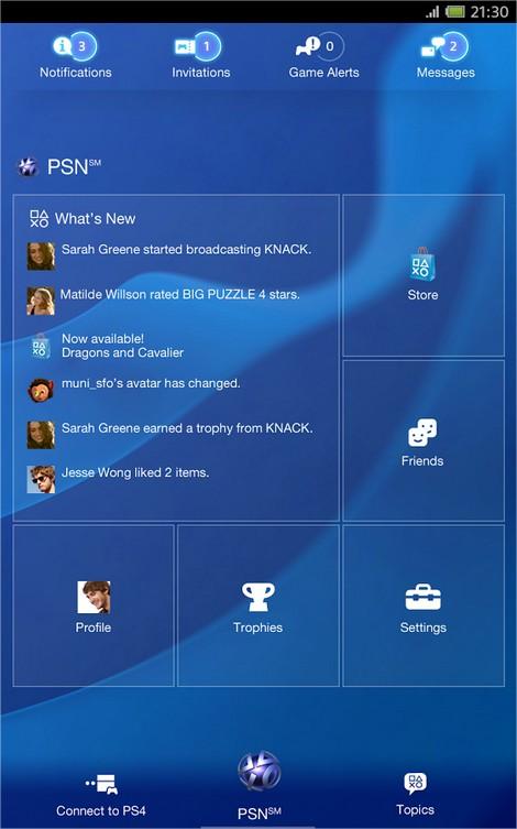 PlayStation App - Imagem 1 do software