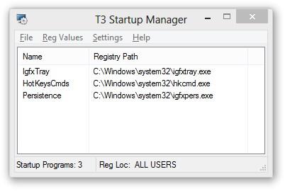T3 StartUp Manager Download to Windows Grátis