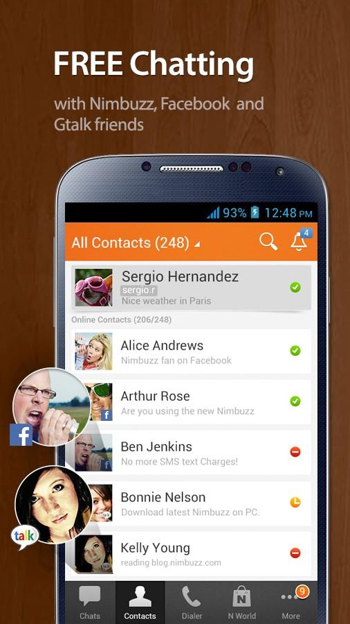 Nimbuzz agora no seu celular.