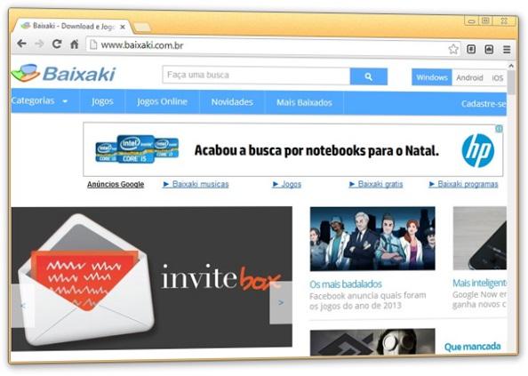 Interface do navegador
