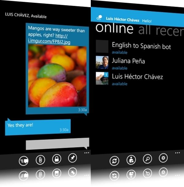 Interface do aplicativo