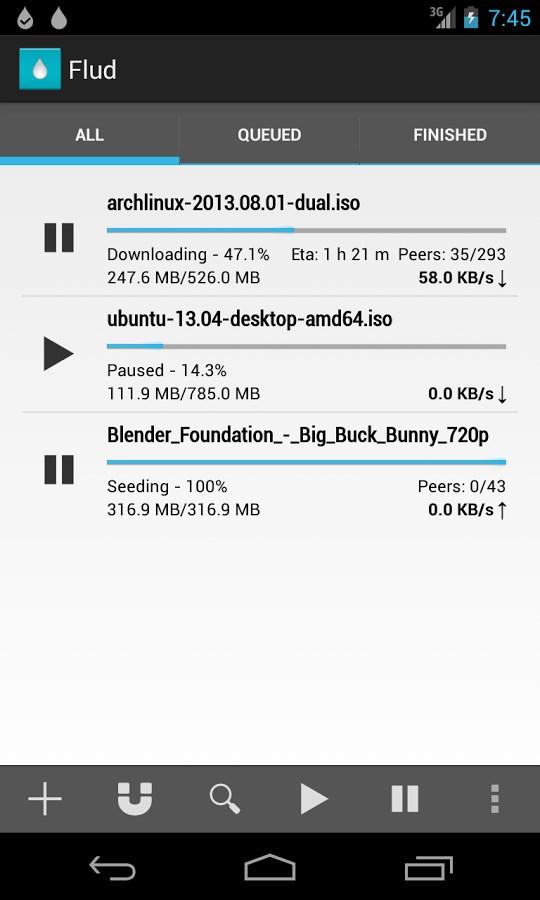 Flud - Torrent Downloader - Imagem 1 do software