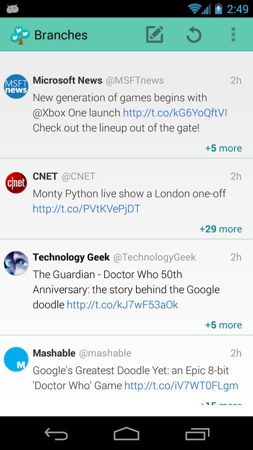 Branches for Twitter - Imagem 1 do software