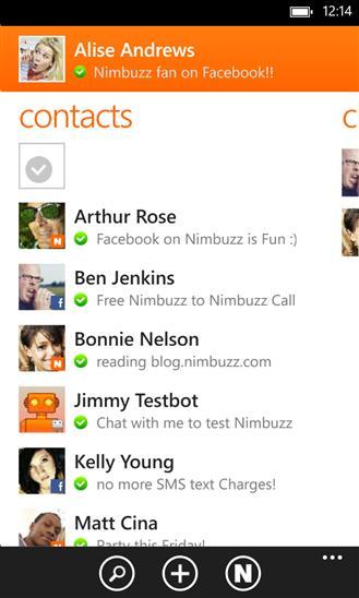 Nimbuzz - Imagem 1 do software