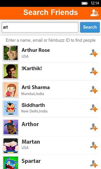 Nimbuzz - Imagem 2 do software