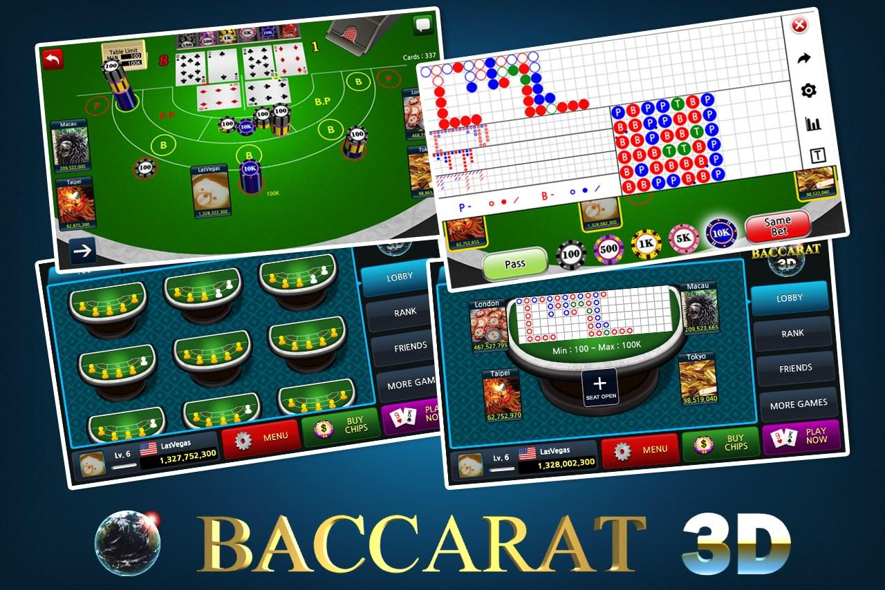 Baccarat online 3d free casino