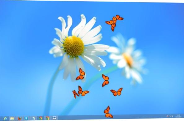 Adicionando borboletas
