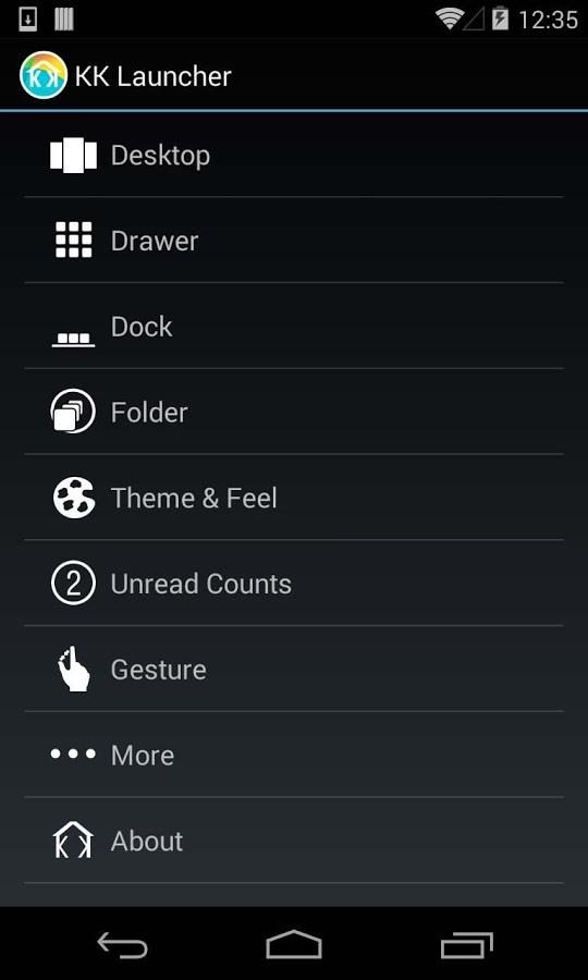 KitKat Launcher ( Android 4.4) - Imagem 3 do software