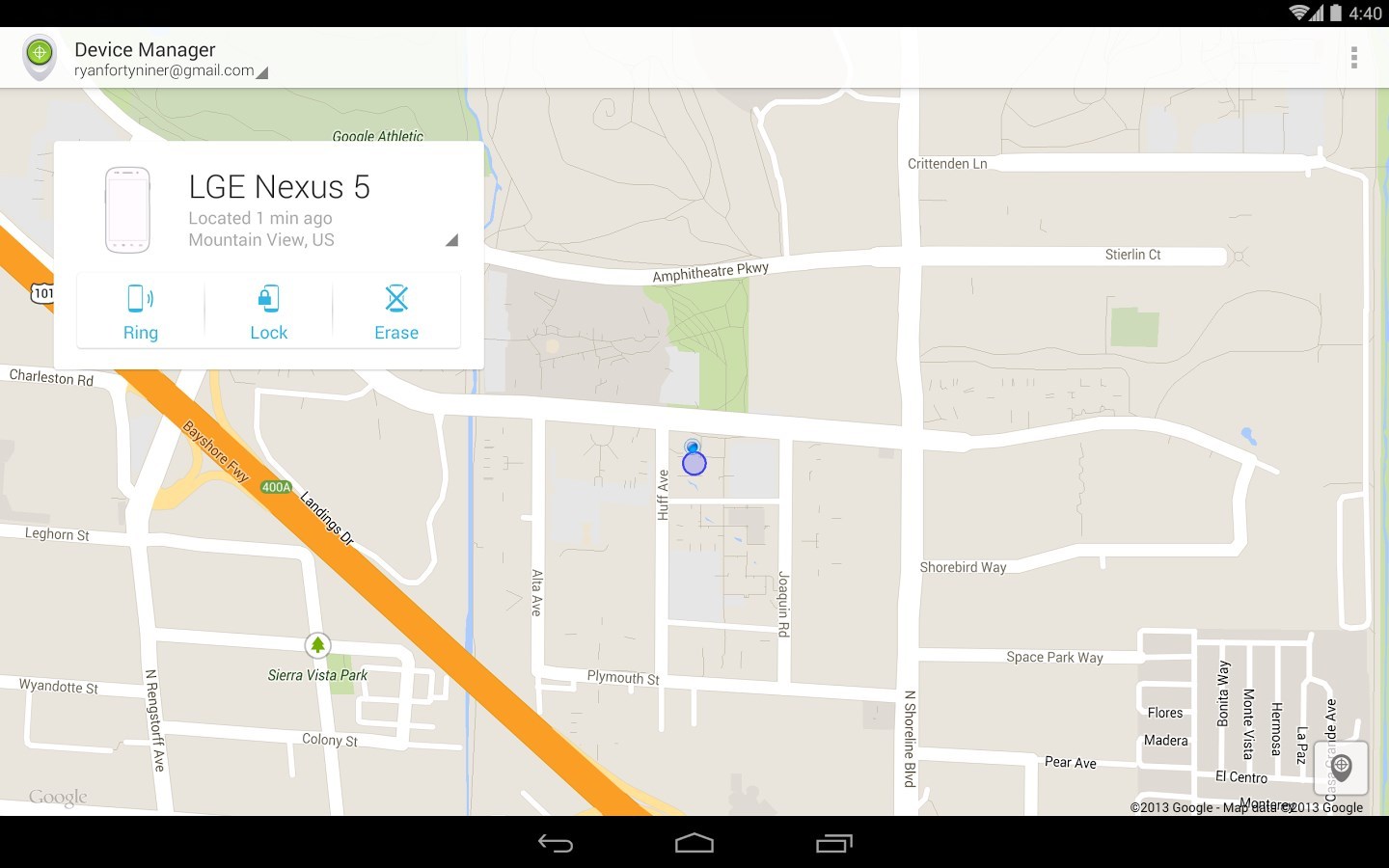 Android Device Manager - Imagem 1 do software