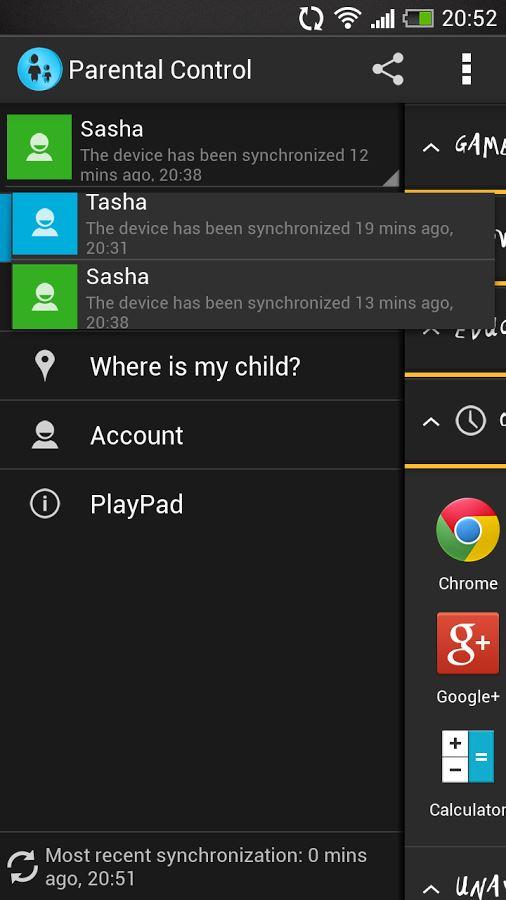 PlayPad Parental Control - Imagem 1 do software