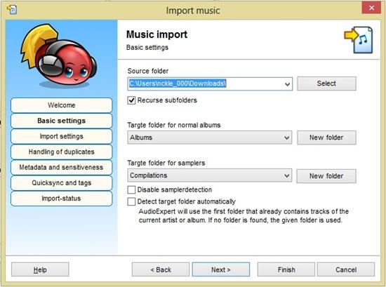O tutorial ajuda você a importar áudios do PC.
