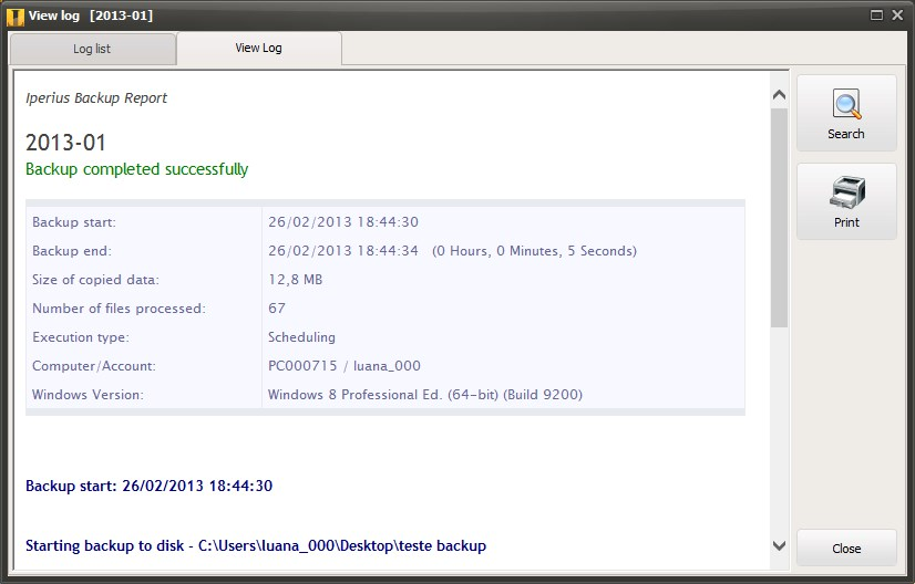 Iperius Backup - Imagem 1 do software