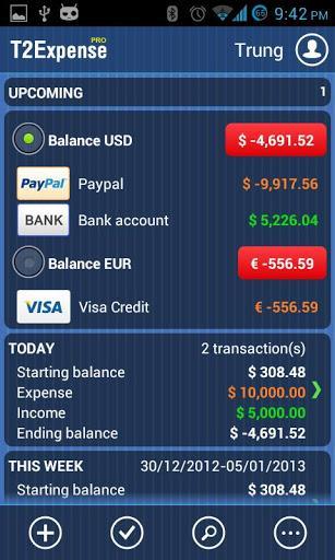 T2Expense - Money Manager - Imagem 1 do software