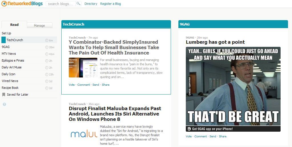 NetworkedBlogs - Imagem 2 do software