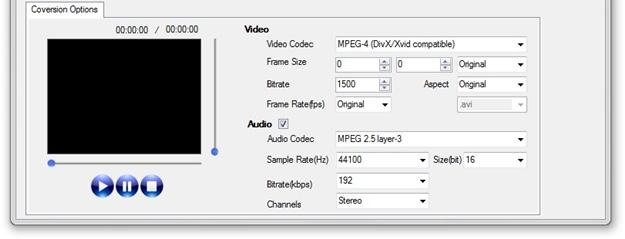 FSS Video Converter Interface