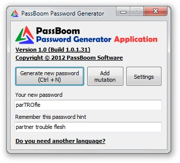 PassBoom Password Generator.