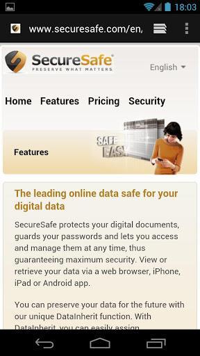 SecureSafe Password Manager - Imagem 2 do software