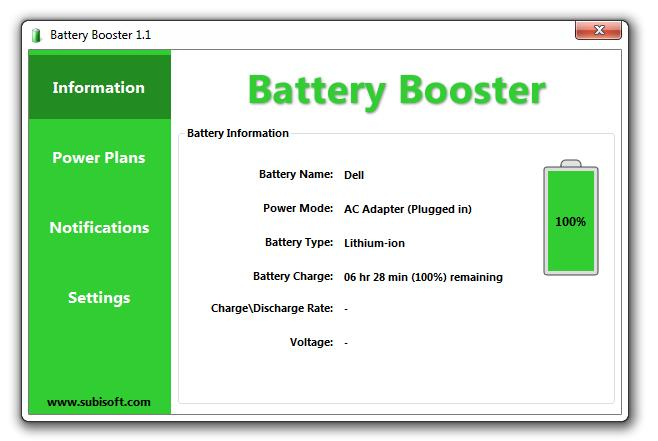 Battery Booster - Imagem 1 do software