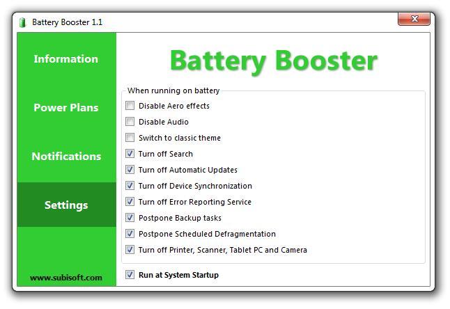 Battery Booster - Imagem 2 do software
