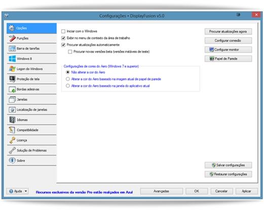 DisplayFusion - Imagem 1 do software